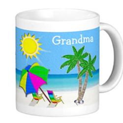 Grandma Mugs BEACH Themed Mugs